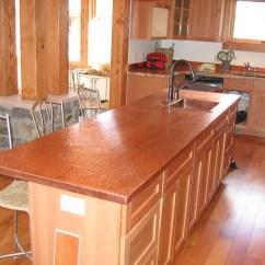 Copper Kitchen Countertops Modern Cart Custom Counters