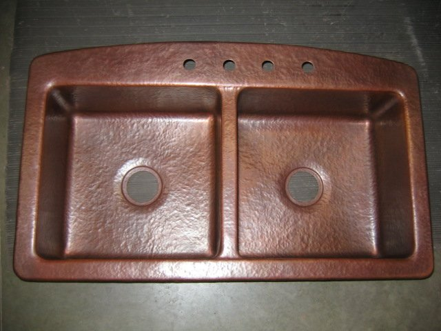 antique copper kitchen faucet custom outdoor kitchens mountain rustic sink