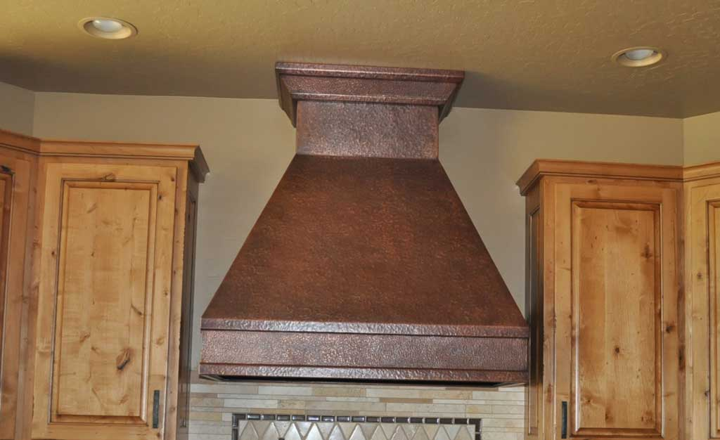Trout Meadows Hand Hammered Copper Range Hood