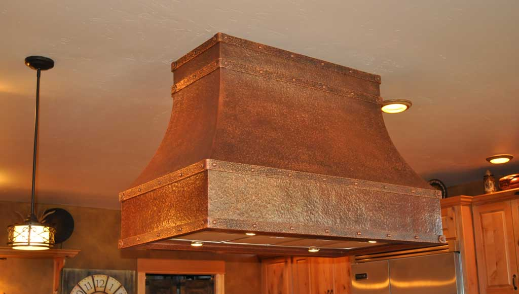 kitchen work tables large sinks island range hoods - mountain copper creations
