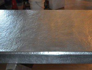 zinc top kitchen island anti fatigue mats hammered countertop - mountain copper creations