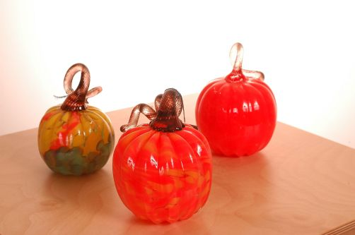Halloween Decor Ideas: blown glass pumpkins