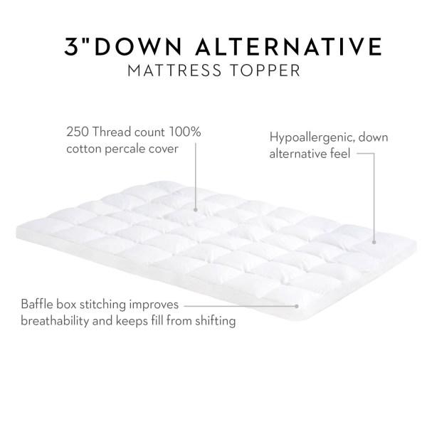 3 Inch Down Alternative Mattress Topper