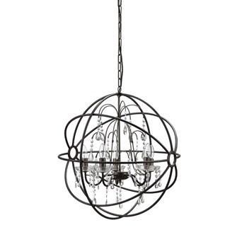 Round metal chandelier