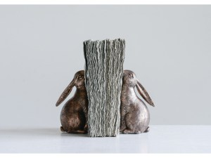 Creative Coop Resin Bunny bookends