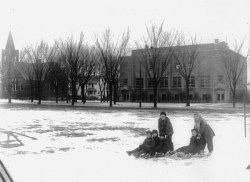 Sledding in Mount Prospect