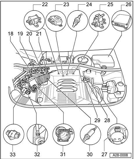 camshaft position sensor (location) Where?
