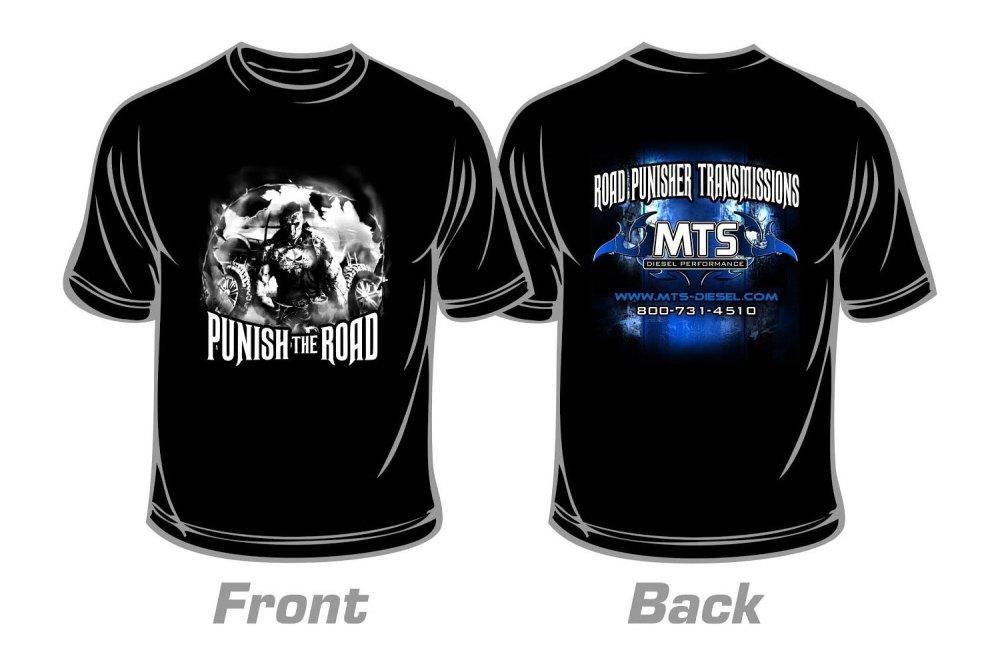 medium resolution of large road punisher t shirt