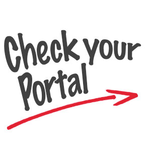 Check your portal daily