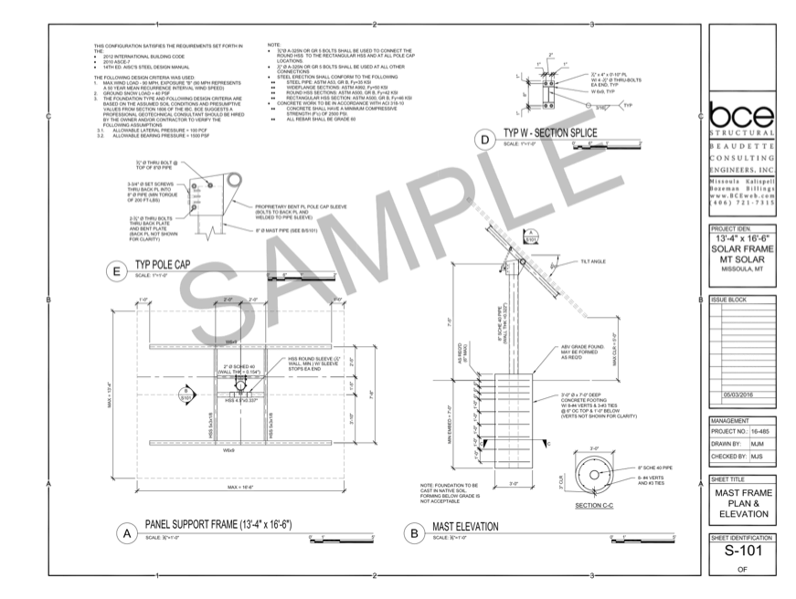 Design Review- Stamped Engineering Drawing with
