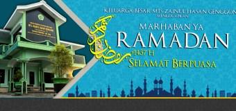 Selamat Menunaikan Ibadah Puasa Ramadan 1437 H