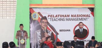 Sempurnakan Psikologi Pengajaran, MTs Zaha Gelar Pelatihan Nasional…..