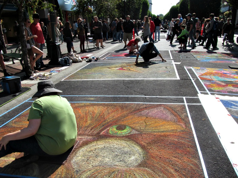 Victoria International Chalk Art Festival 2013