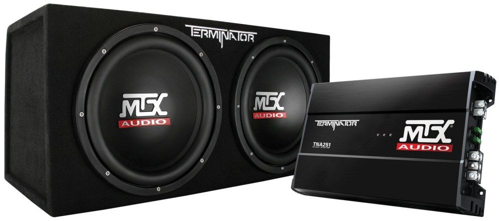 medium resolution of picture of terminator tnp212d2 dual 12 inch 400w rms sealed enclosure and mono block amplifier