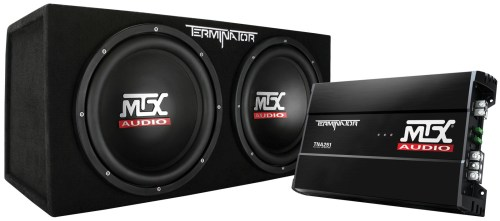 small resolution of picture of terminator tnp212d2 dual 12 inch 400w rms sealed enclosure and mono block amplifier