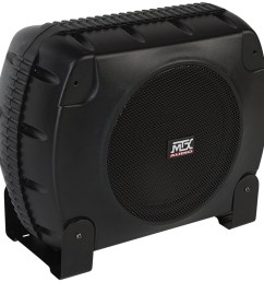 xtl110p powered car subwoofer enclosure mtx audio serious about sound  [ 990 x 1000 Pixel ]