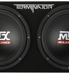 tnp212d2 dual 12 subwoofer enclosure and amplifier party package mtx audio serious about sound  [ 1600 x 764 Pixel ]