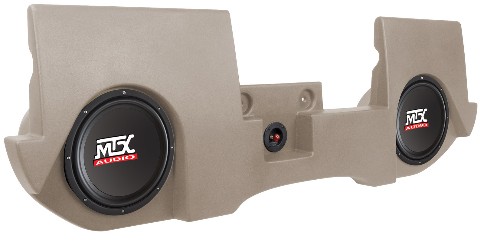 hight resolution of drqc20at tn thunderform amplified subwoofer enclosure dodge ram quad cab 2002 2016 tan mtx audio serious about sound