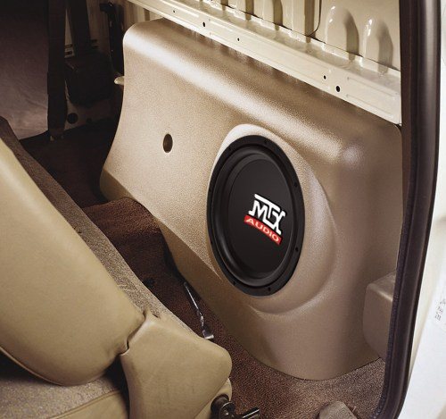 small resolution of toyota tacoma regular cab 1996 2004 thunderform custom amplified subwoofer enclosure mtx audio serious about sound