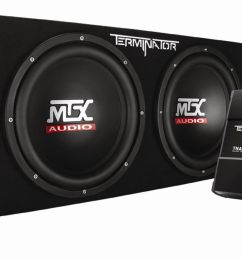 tnp212d2kit mtx car subwoofer enclosure amp wiring pckg mtx audio serious about sound  [ 1600 x 705 Pixel ]