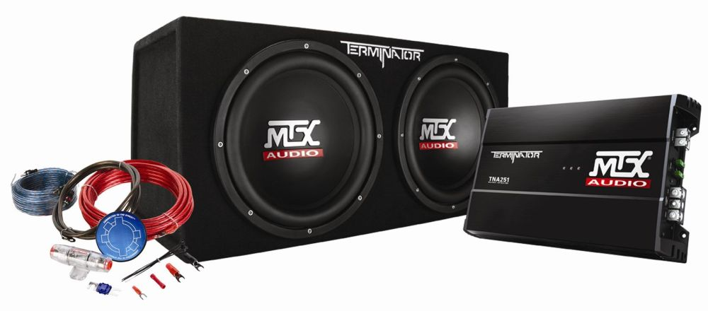 medium resolution of tnp212d2kit mtx car subwoofer enclosure amp wiring pckg mtx audio serious about sound