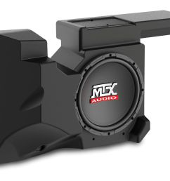 rzrxp 10 amplified subwoofer enclosure for use on select polaris rzr models mtx audio serious about sound  [ 1920 x 1505 Pixel ]