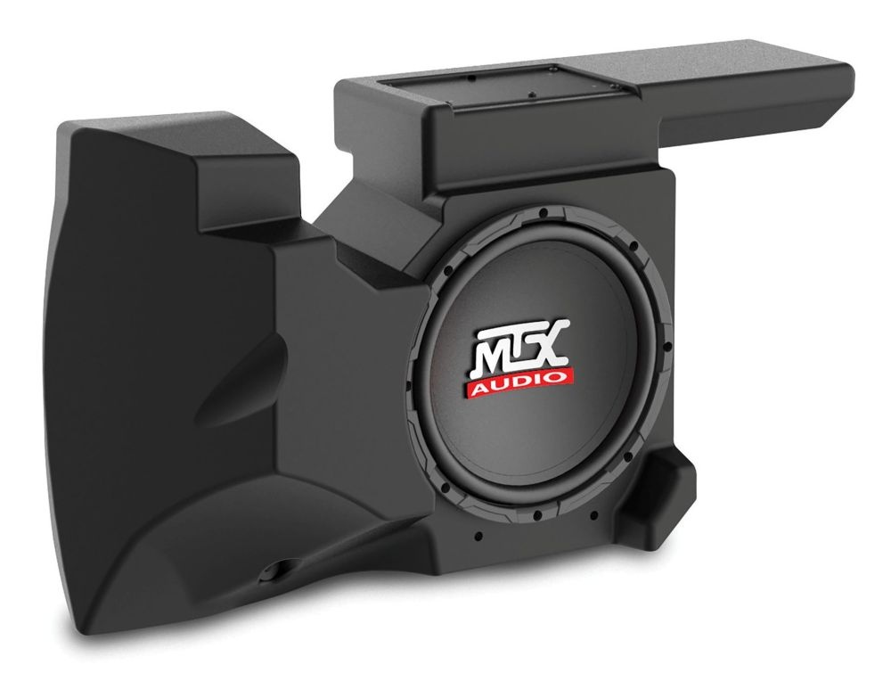 medium resolution of rzrxp 10 amplified subwoofer enclosure for use on select polaris rzr models mtx audio serious about sound