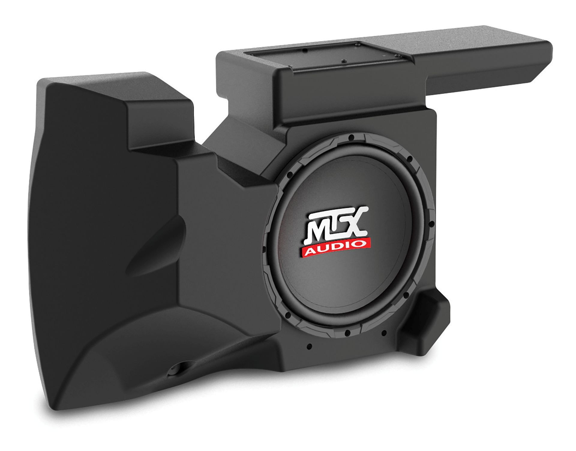 hight resolution of rzrxp 10 amplified subwoofer enclosure for use on select polaris rzr models mtx audio serious about sound