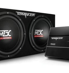 tnp212d2 dual 12 subwoofer enclosure and amplifier party package mtx audio serious about sound  [ 1920 x 888 Pixel ]