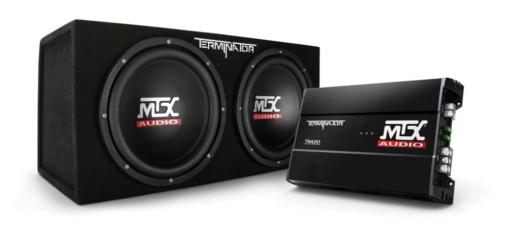 medium resolution of tnp212d2 dual 12 subwoofer enclosure and amplifier party package mtx audio serious about sound
