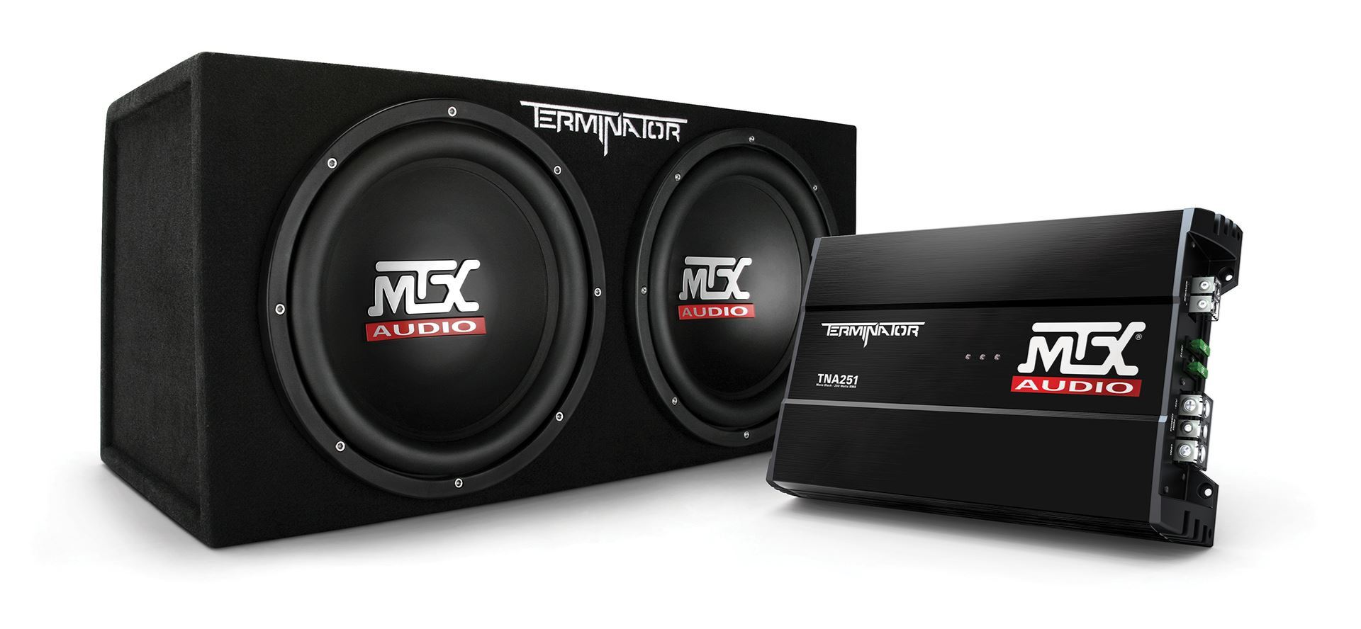 hight resolution of tnp212d2 dual 12 subwoofer enclosure and amplifier party package mtx audio serious about sound