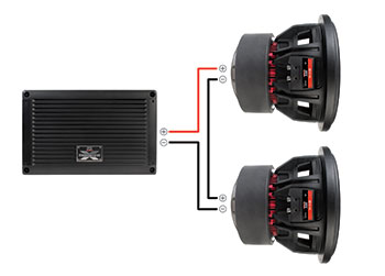 monoblock wiring diagram 93 honda civic fuse box matching subwoofers with amplifiers calculating subwoofer impedance series
