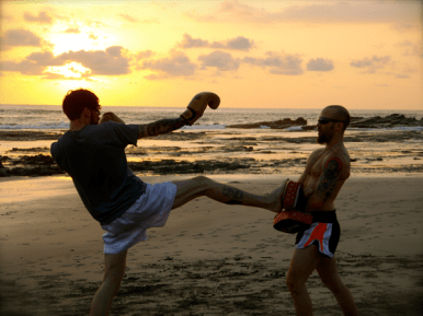 muay thai on the beach retreat costa rica