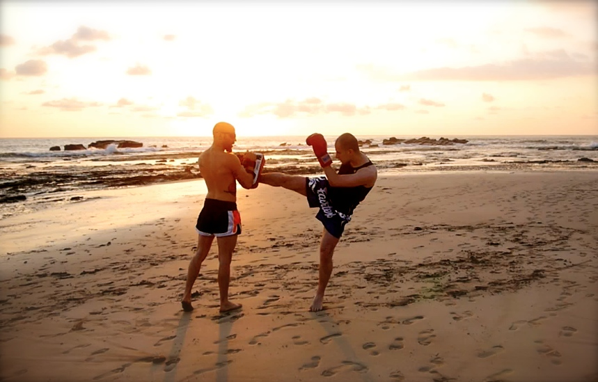 Muay Thai + Beach + Sunset = Living The Dream
