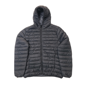 Men's Polyester Quilted Zips Through Hoodie Jacket