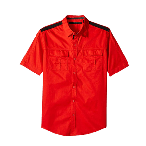 Men's Short Sleeve CVC Twill Shirt