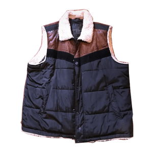 Men's Quilted/Sherpa Snaps Vest