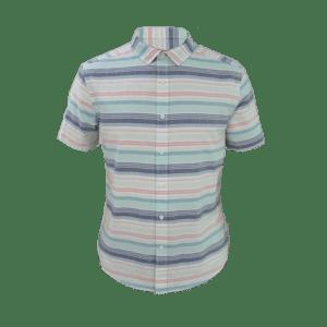 Men's Short Sleeve Horizontal Striped Shirt