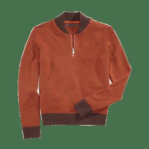 Men's Quarter Zip Cardigan Sweater