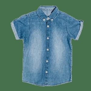 Boy's Denim Short Sleeve Shirts
