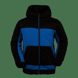 Boy's Quilt lined Fleece Zip Through Hoodie