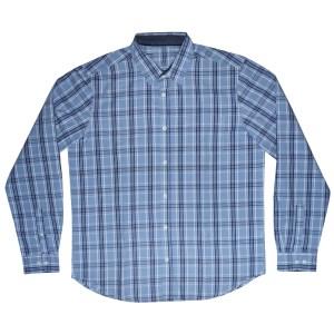 Men's Slim Fit Long Sleeve check Cotton Shirt