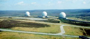 Rotating radar were dotted around the UK intended to provide early warning of incoming missiles