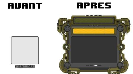 Early interface (placeholder) vs new