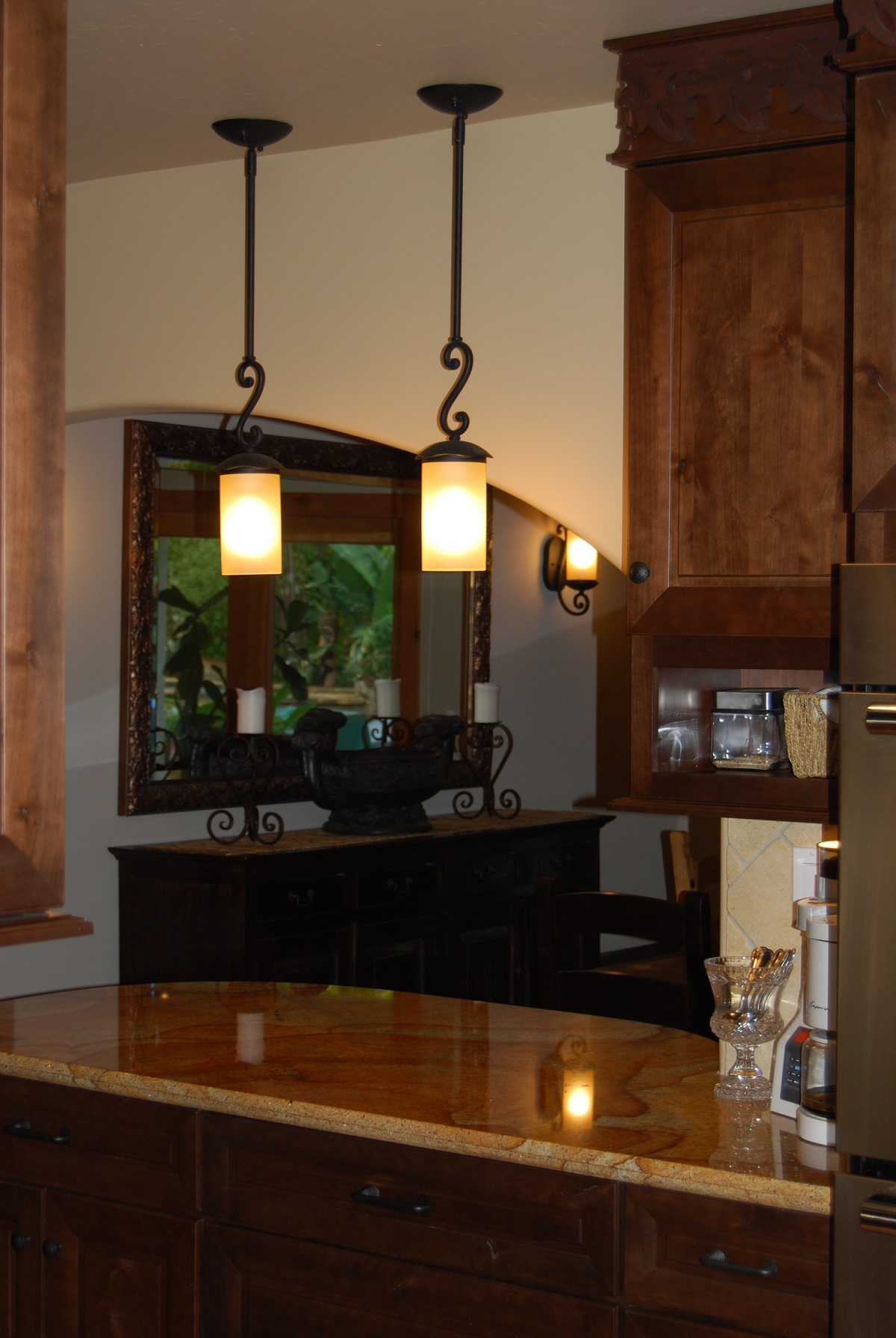 kitchen lights hanging kate spade remodels custom cabinetry much ado about kitchens