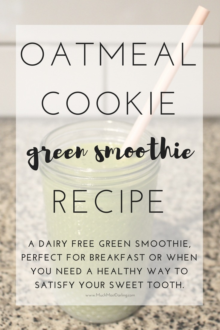 oatmeal cookie green smoothie-2
