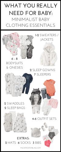 How many baby clothes do I need? My minimalist baby ...