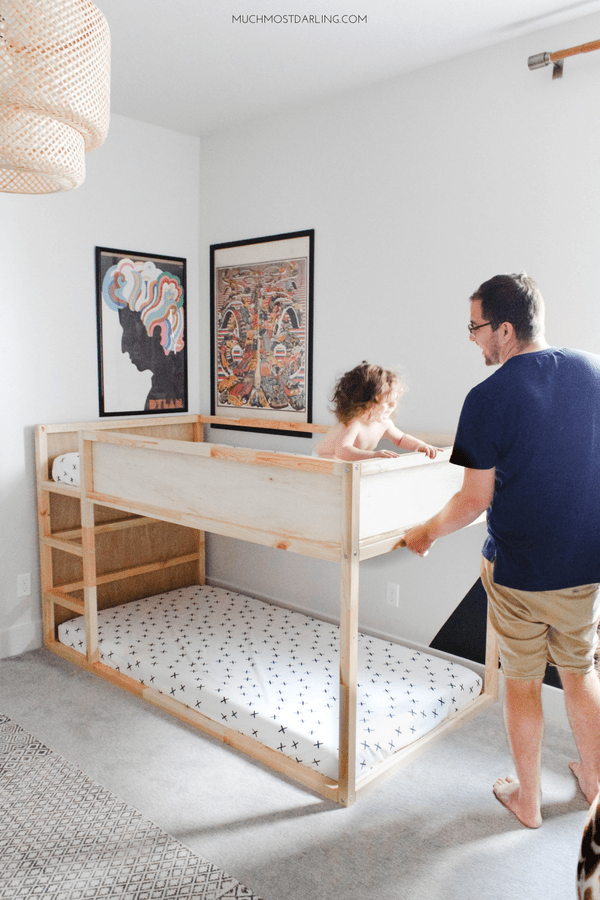 DIY Ikea Hack: KURA Toddler Bunk Bed