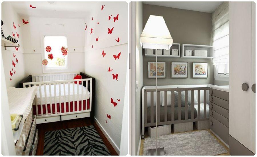 Habitaciones para bebs en pisos pequeos