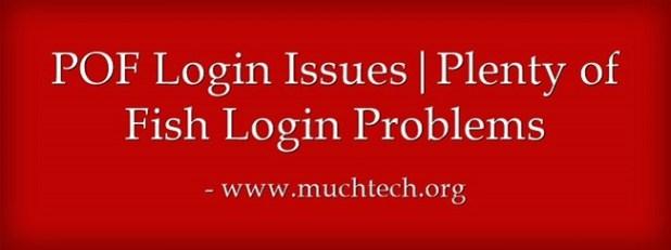 Issues pof login POF Not